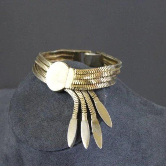 VTG Monet bracelet gold adjustable 50s 60s